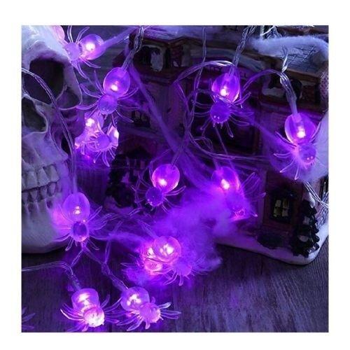 Decoration Light Led Battery Operated String Lights 20 Purple Spider For Online Ebay