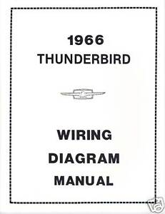 1966 ford thunderbird wiring diagram manual ebay rh ebay com