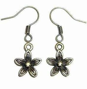Vintage-style-tiny-Tibetan-style-alloy-flower-earrings