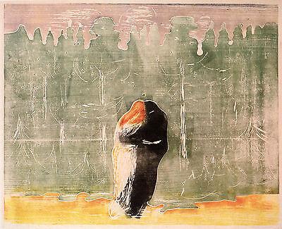 Munch Prints: Towards The Forest (green color scheme) - Fine Art Print