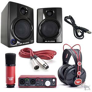 Recording Studio Equipment Bundle : home recording bundle focusrite scarlett studio package with av30 monitors ~ Hamham.info Haus und Dekorationen