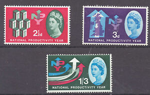 GB 1962  National Productivity Year SG 631  633 MM - Sherburn Village, Durham, United Kingdom - GB 1962  National Productivity Year SG 631  633 MM - Sherburn Village, Durham, United Kingdom