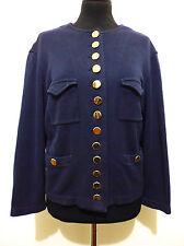 JC DE CASTELBAJAC Cardigan Giacca Donna Woman Cotton Jacket Sweater Sz.L - 46