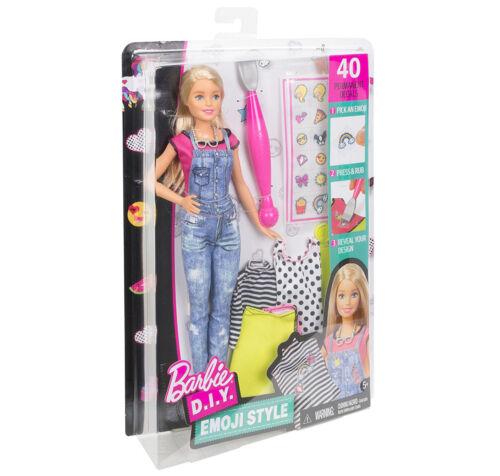 Emoji Stile Moda Bambola Playset ~ NUOVO ~ Barbie D.I Y
