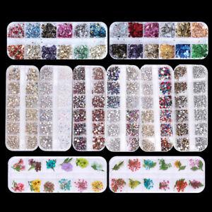 Various-3D-Nail-Art-Rhinestones-Diamonds-Gems-Jewelry-Rivet-Mixed-Decoration
