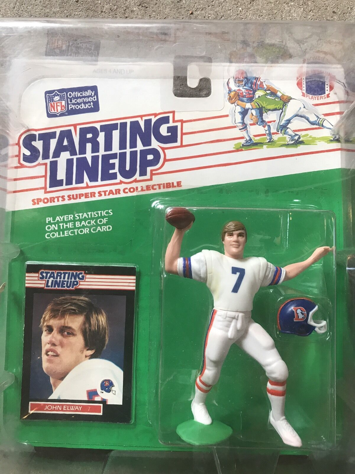 1989 Starting Lineup John Elway NM In Predective Case Broncos