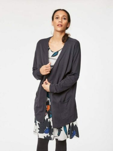 16// Thought Vivienne Long Organic Cotton Pocket Cardigan //sizes 12