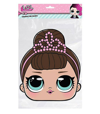 LOL Surprise 2D Character Face Masks Great for Parties 1st Class Post