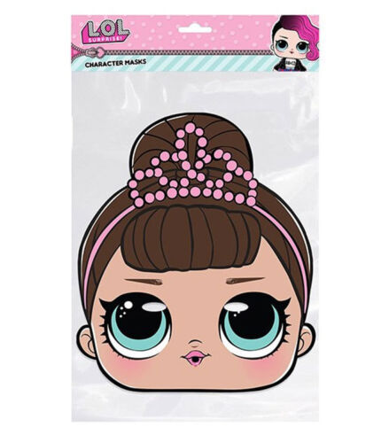 Fancy LOL Surprise Single 2D Card Party Face Mask MC Swag Great party fun