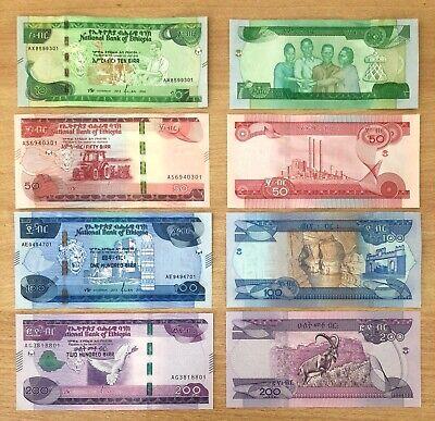 ETHIOPIA  10,50,100,200 BIRR 2020 UNC P New!