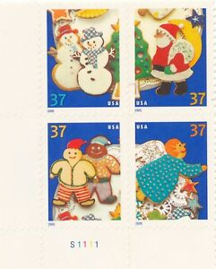 2005 37c Christmas Cookies, Block of 4 Scott 3949-3952 Mint F/VF NH