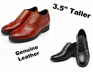 62b51b5c33754 Details about Men 3.5 inches Elevator Height increase Business Dress shoes  size 7 8 9 10 10 11