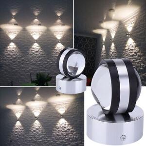 1//2//3X LED Wandleuchte Wandlampe Innen Außen Lampe Wohnzimmer Beleuchtung 3//9W