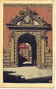 Kampen, Doorgang Nieuwe Toren, Steindruck AK, 1927 - Deutschland - Kampen, Doorgang Nieuwe Toren, Steindruck AK, 1927 - Deutschland