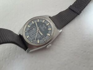 Old Wristwatch Elgin Automatic 25 J Stainless Steel Cal Ut 52