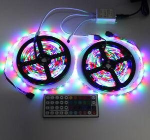 10M-2-5M-3528-SMD-RGB-600LEDs-LED-Strip-Lights-Tape-44Key-IR-remote-Controller