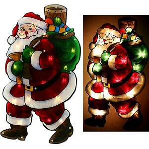 Christmas Window Lights Santa Size 45cm Double Sided ...