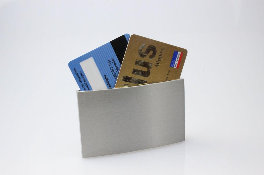 Gürtelschnalle mit Geheimfach für 2 EC Karten, vor fremden Blicken verborgen