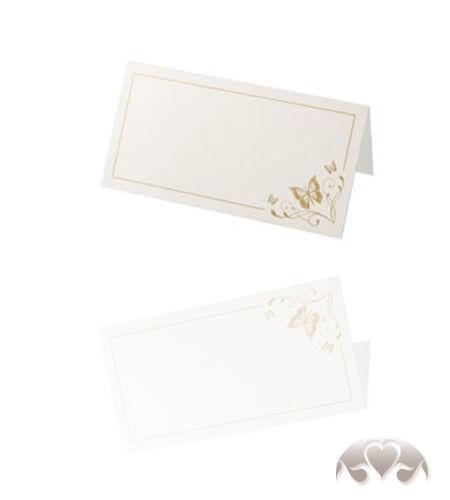 50x mesa tarjetas liebesfalter Gold plaza tarjetas tischkärtchen boda tarjeta de nombres