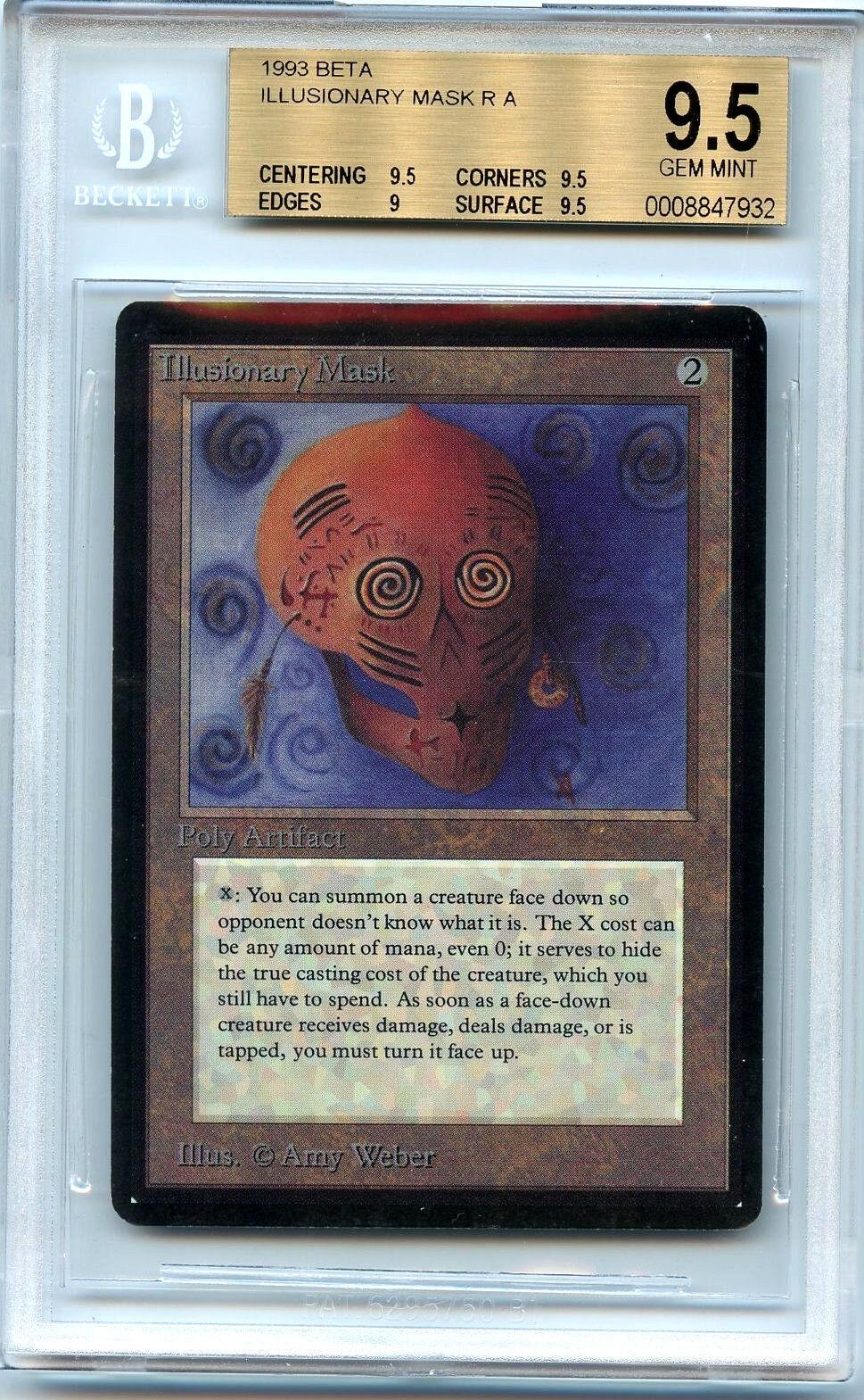 Mtg beta eingebildeten maske bgs eingestuften 9,5 gem - magic the gathering wotc 7932