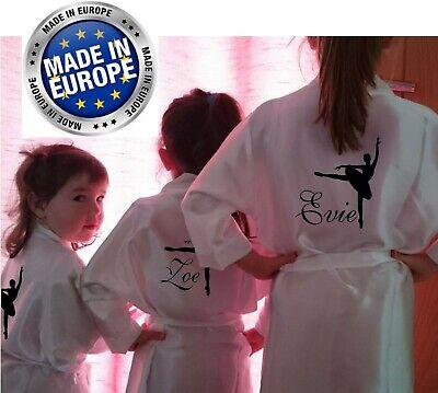 Generoso Children's Personalizzato Vestaglia Accappatoio Raso Ballerina Dance Class Adolescenti-