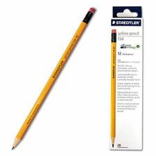 Staedtler 134 Yellow Pencil With Eraser Tip 1 Dozen 2b For Office Amp School