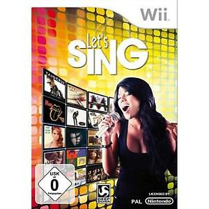 WII-Let-039-s-Sing-solo-gioco-NUOVO