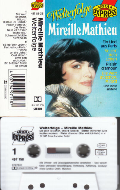 MIREILLE MATHIEU - Welterfolge 📼 MC Musikkassette
