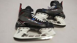 Used Hockey Skates >> Details About Nico Hischier Game Used Ccm Ft1 Pro Stock Ice Hockey Skates 7 5 D A Nj Devils