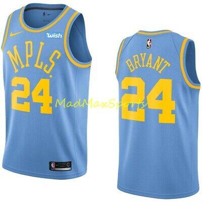 KOBE BRYANT LA Lakers #24 Nike MPLS Wish HARDWOOD CLASSICS Swingman Jersey S-2XL