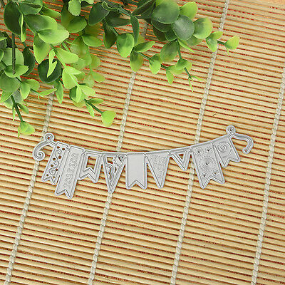 Mixed Shaped Flag DIY Cutting Dies Stencil Paper Cards Scrapbooking Diary Gifts