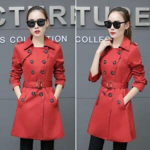 Korean-Womens-Trench-Coat-Slim-Fit-Double-Breasted-Mid-length-Outwear-Hot-Yoooca