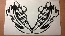front fairing honda kawasaki suzuki ducati racing flags motorbike vinyl sticker