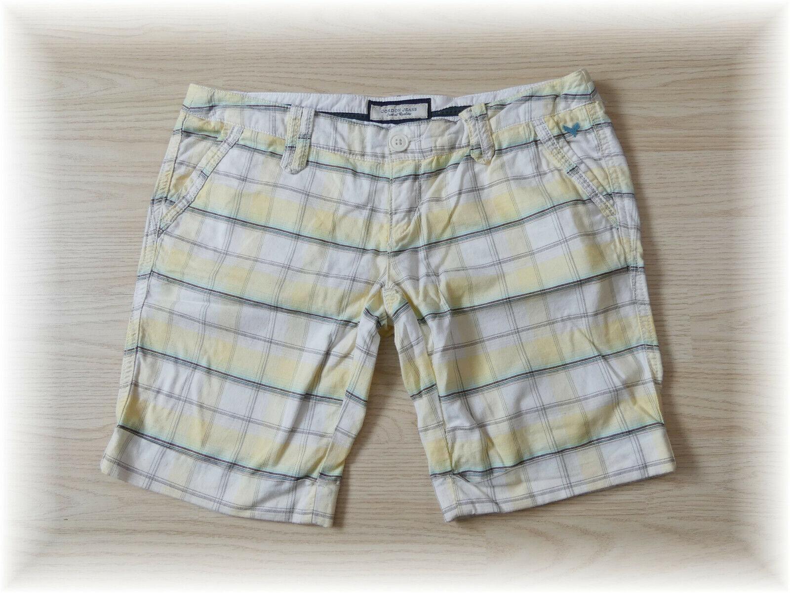 Cordon Jeans * kurze Hose Karo Shorts Freizeit * Gr. 36 (26)