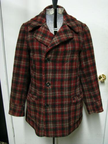 Vintage 20's 30's Mackinaw Wool Mens Pea Coat Jack