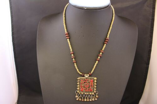 Afghan Necklace with Pendant Authentic Ethnic Tribal