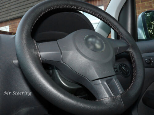 FOR DODGE RAM 4 2500 ITALIAN LEATHER STEERING WHEEL COVER GREY STITCH 2009-2015