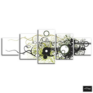 Funky-Design-Abstract-BOX-FRAMED-CANVAS-ART-Picture-HDR-280gsm