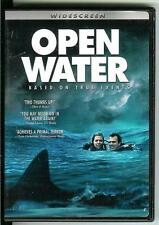 OPEN WATER, used movie DVD, 2004, scuba divers and sharks, based on true events