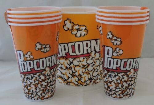 Movie Popcorn Bowls /& Holders 5 or 9 Piece sets Plastic Tub Theater Bags NEW