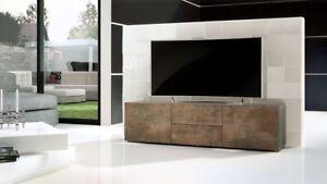 Porta TV moderno modello Pepsy colore acciaio antico mobile ...