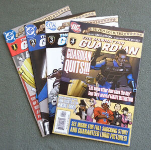 4-DC-Comics-The-Manhattan-GUARDIAN-Seven-Soldiers-Set-1-to-4-2005-Excellent