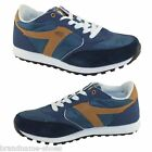 DUNLOP MENS KT26 RUNNERS NAVY BLUE TAN SNEAKERS MEN'S SHOES 6 7 8 9 10 11 12