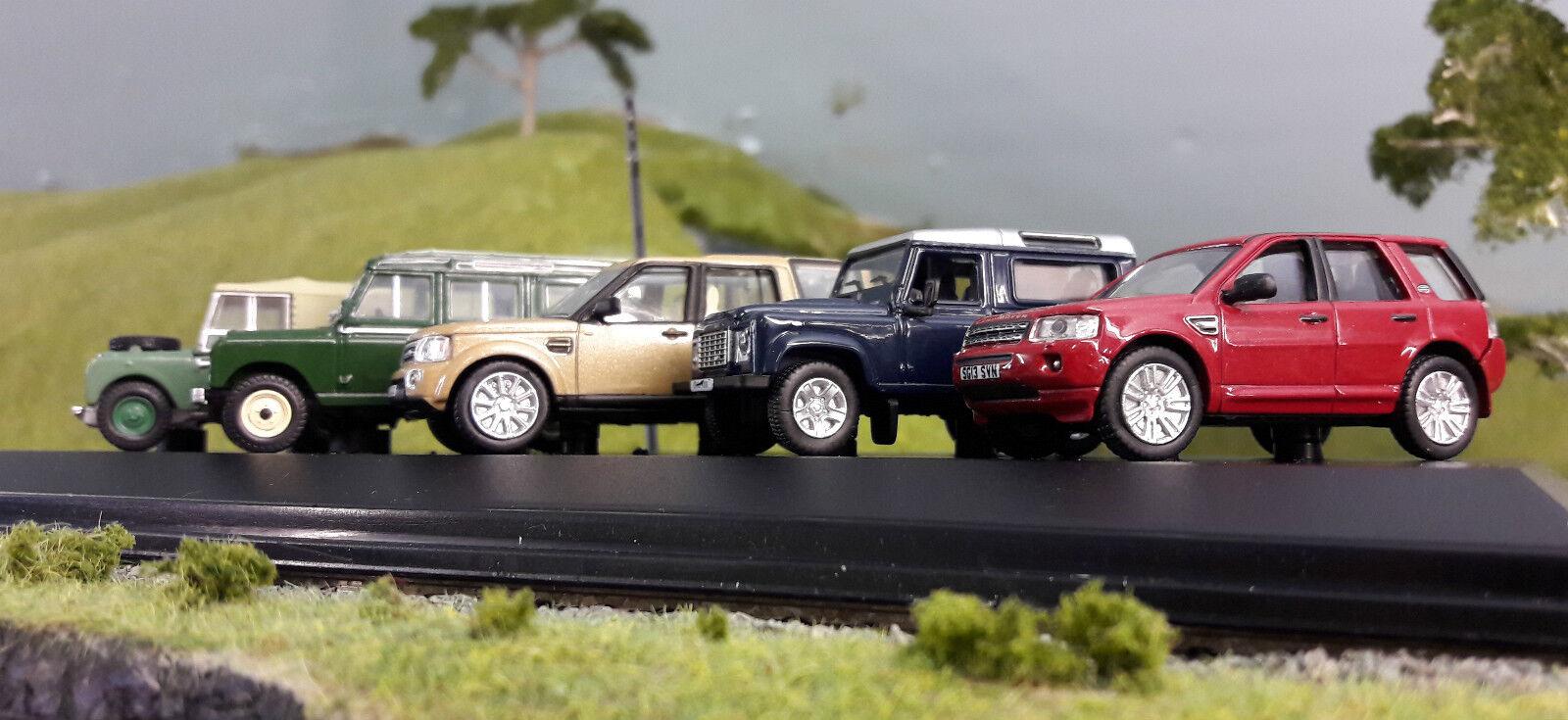 1 76 Ho   Oo   00 Land Rover Defender Serie 80 1 2 frilander Discovery 4 Set 5