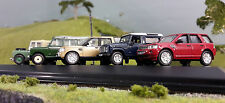 1:76 HO/OO/00 Land Rover Defender Series 80 1 2 Freelander Discovery 4 Set 5