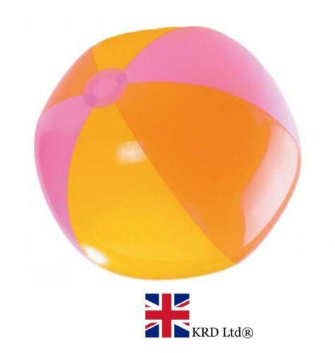 """24/"""" INFLATABLE BEACH BALL Blowup Panel Holiday Party Swimming Garden Toy 60cm UK"""