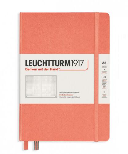 LEUCHTTURM 1917 Medium A5 Hardback Notebook Bellini with choice of page format