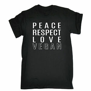 Image Is Loading PEACE RESPECT LOVE VEGAN T SHIRT Vegan Vegetarian
