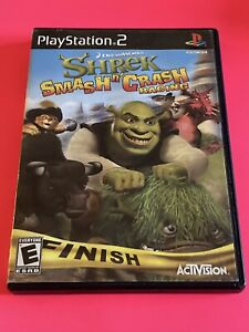 🔥 SONY PS2 PlayStation Two 💯 WORKING GAME 🔥 SHREK SMASH N' CRASH RACING 🔥FUN