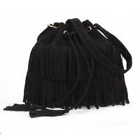 Satchel Cross Body Shoulder Hand Bag Canvas / Leather School College Girl Ladies